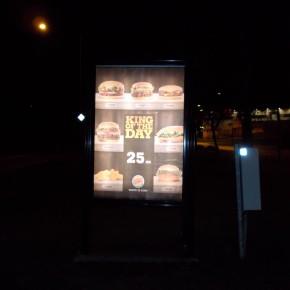 Burger King utomhusreklam hos GUSO Närmedia Upplands Väsby