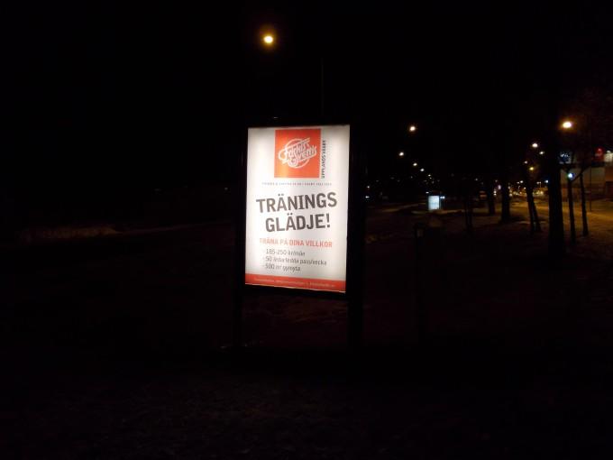 GUSO Närmedia AB - belysta reklamskyltar i Upplands Väsby