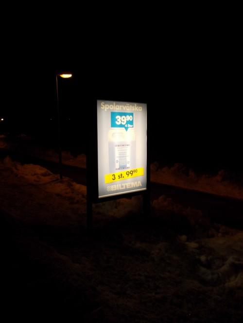 Kampanj utomhusreklam BILTEMA hos GUSO Närmedia AB på Värmdö