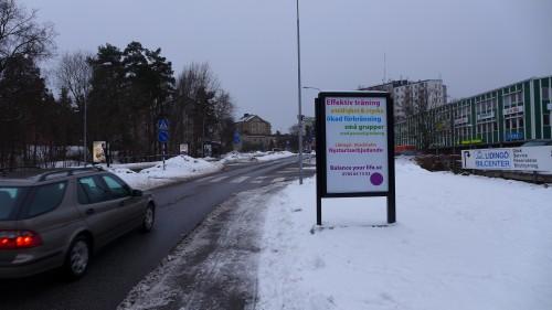 Utomhusreklam för Balance your Life på Lidingö - GUSO Närmedia, www.guso.se