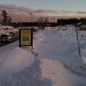 GUSO adshel placering Värmdö Marknad Annons: Lidl