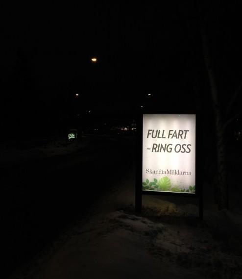 GUSO adshel Lidingö i eurosize format - placering ljuslåda mot Centrum