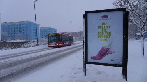 GUSO Närmedia reklamskylt, Väsby Centrum.