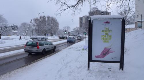 Annonsera Nike Flyknit, GUSO Närmedia Sundbyberg