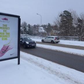 GUSO Lidingö, utomhusreklam Annonsör: Nike Flyknit Plats: Bodalsvägen, Lidingö