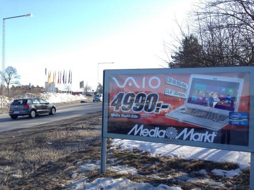 Media Markt barkarby på GUSO reklamtavla Enköpingsvägen Järfälla
