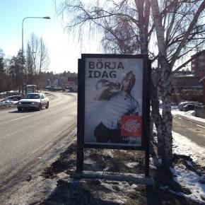 Placering GUSO, Lejonvägen Lidingö Centrum annonsering Friskis och Svettis Lidingö