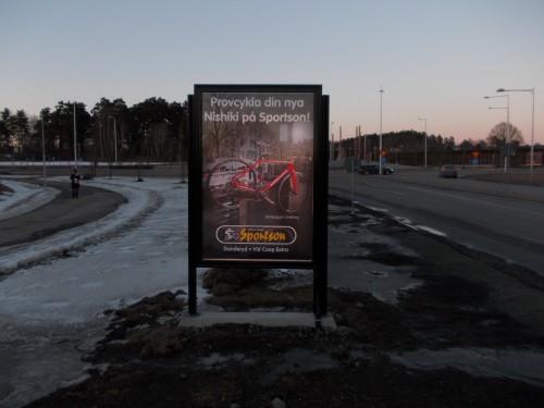 GUSO reklamskyltar Marknadsvägen Täby