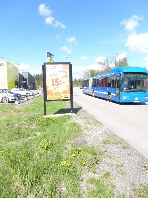 ICA Maxi Värmdö - GUSO Närmedia reklamskylt vid Värmdö Köpcentrum