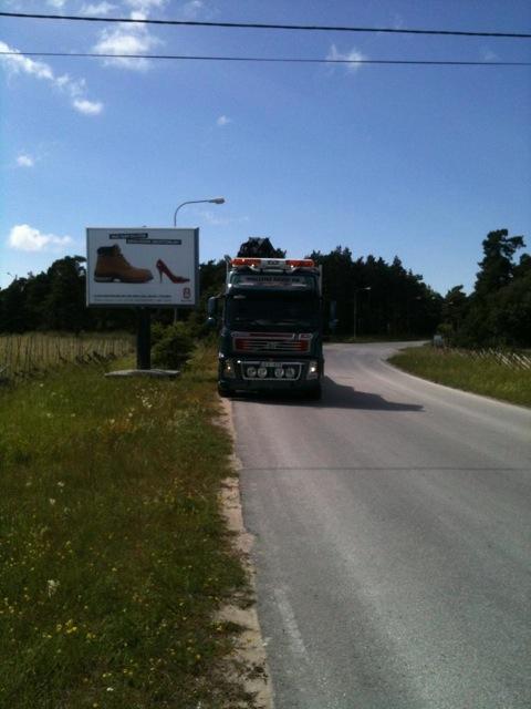 Reklamskylt Visby flygplats GUSO Närmedia
