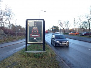 Lidingö utomhusreklam GUSO, Lejonvägen - annonsör Fältöversten