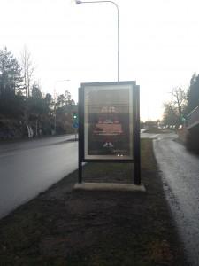 GUSO reklamtavla Lidingö Centrum