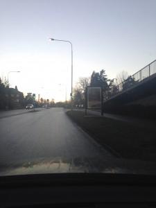 Lejonvägen GUSO reklamtavla - Lidingö Centrum