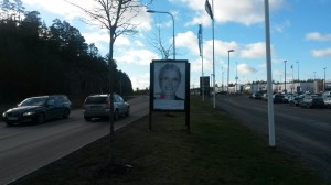 GUSO reklamskylt Värmdömarknad Gustavsberg kund: Bjurfors Värmdö