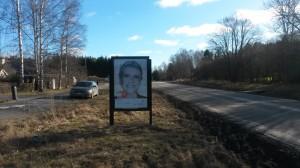 Guso reklamskylt Ingarövägen, Värmdö Kund: Bjurfors Värmdö
