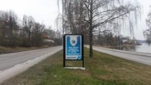 GUSO reklamskylt Norra Kungsvägen Lidingö
