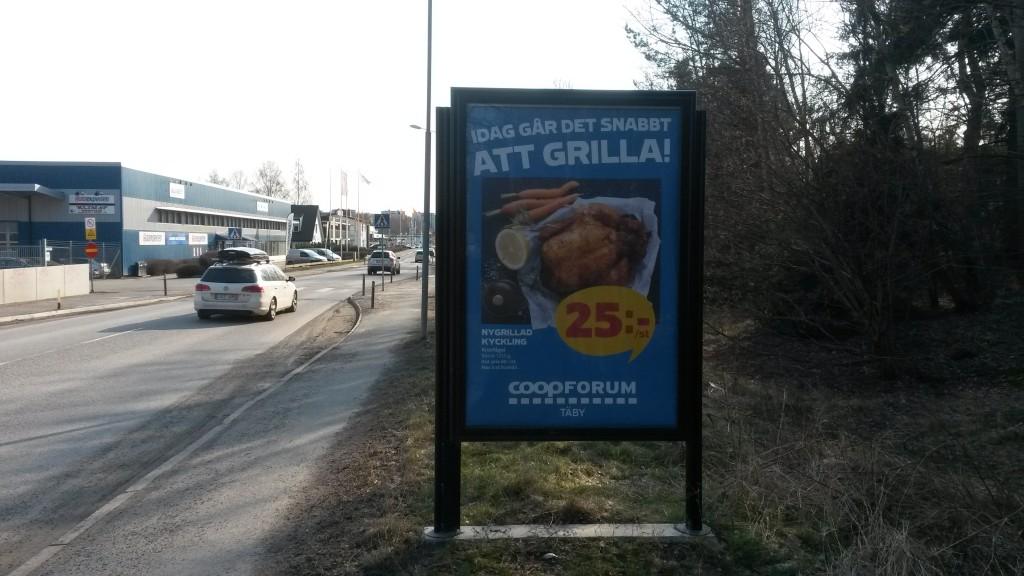 Enhagsvägen Täby GUSO reklamskylt annonsör Coop Forum Arninge