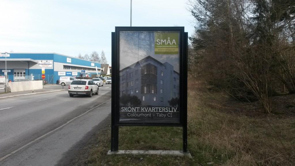 Guso reklamskylt Enhagsvägen Täby annonsör SMÅA