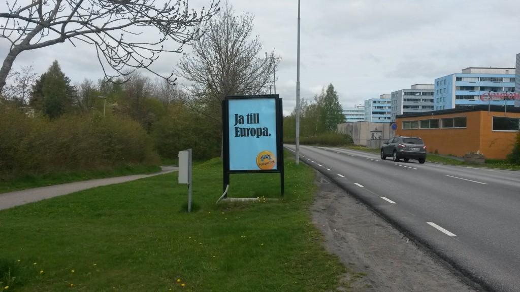 Folkpartiet Upplands Väsby Dragonvägen GUSO utomhusreklam