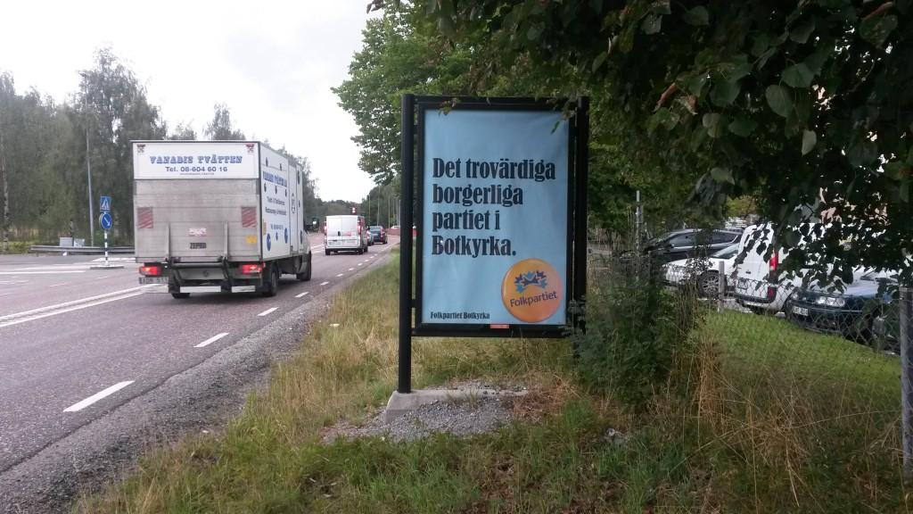 Folkpartiet Botkyrka - Guso reklamtavlor
