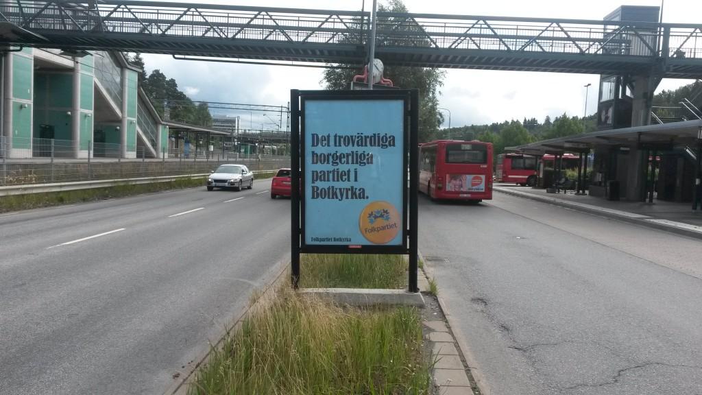 Folkpartiet Botkyrka - Guso reklamtavlor 4
