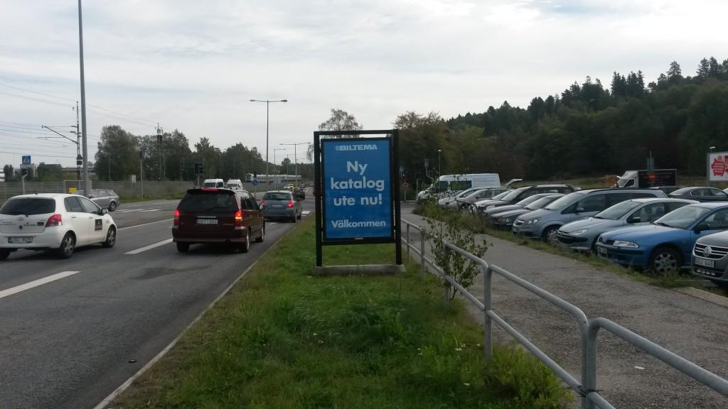 Biltema Botkyrka 5 GUSO Närmedia reklamtavlor