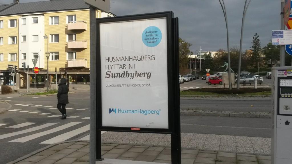 Husman Hagberg Sundbyberg - GUSO reklamskylt