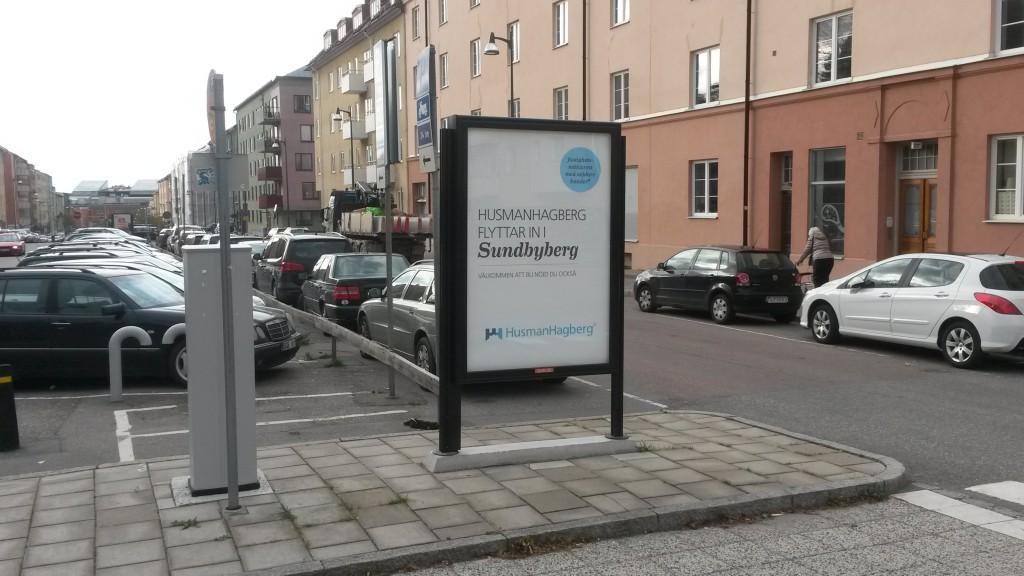 Husman Hagberg Sundbyberg - GUSO reklamtavla
