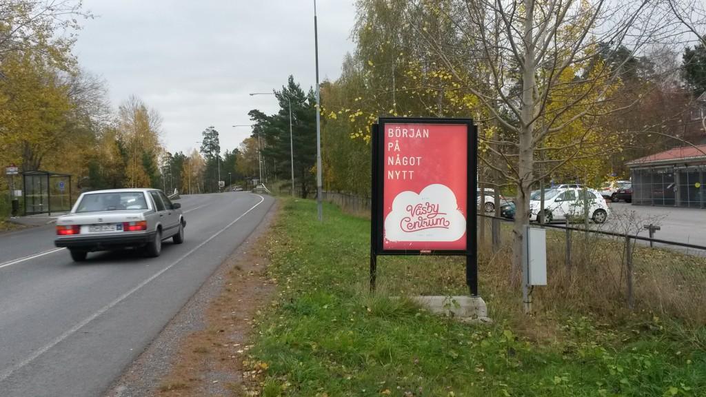 Upplands Väsby Centrum - GUSO reklamtavla