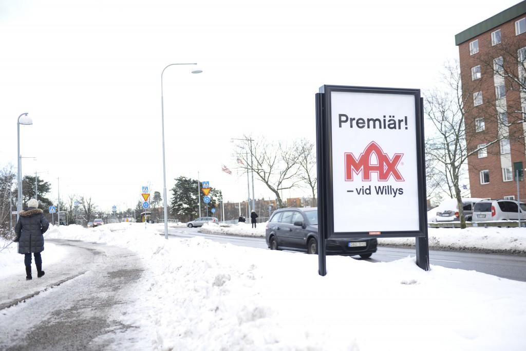 Max Hamburgare Lidingö - GUSO adshel