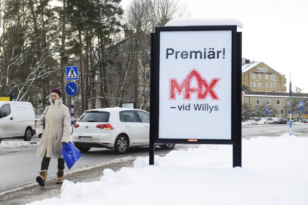 GUSO reklamtavla Max Hamburgare Lidingö