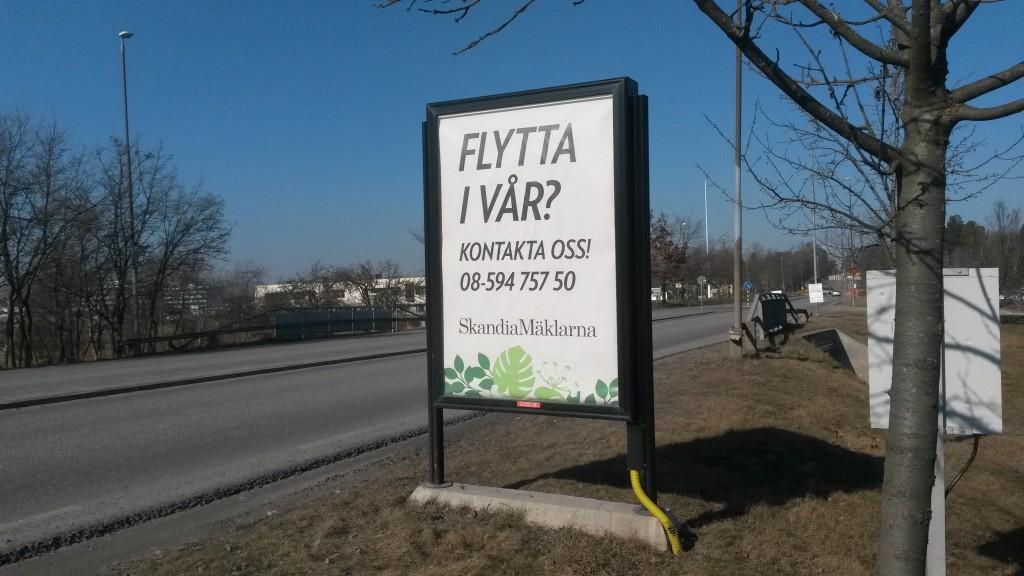 Skandia mäklarna reklam Upplands Väsby