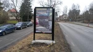 TeamSki fastighetsmäklare Lidingö - GUSO reklamskylt